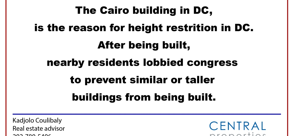 DC residential building height restriction