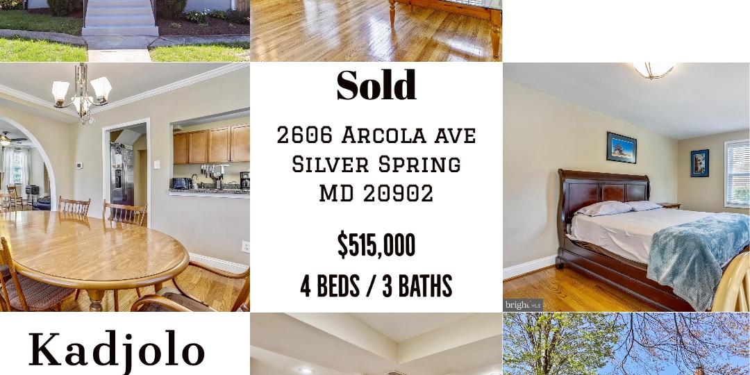 Sold: 2606 Arcola ave Silver springMD